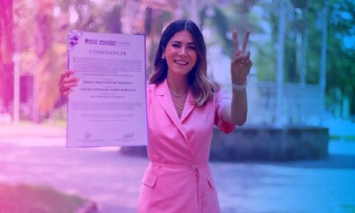 Mónica Magaña es diputada electa con récord en votación